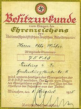 Golden Party Badge document