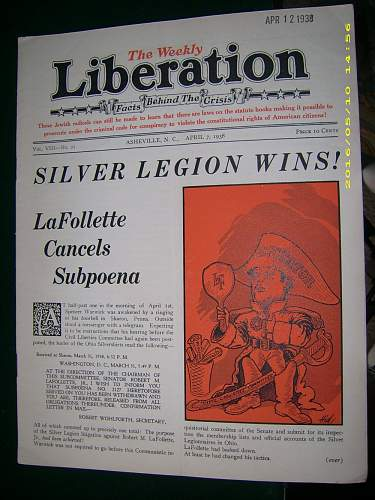 William Pelley's Liberation newspaper?