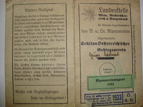 Alpine Junge membership card