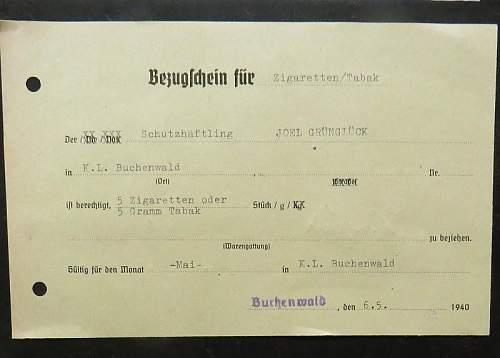 KL Buchenwald Document