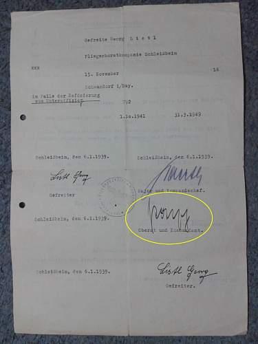 Pre-War Luftwaffe Document