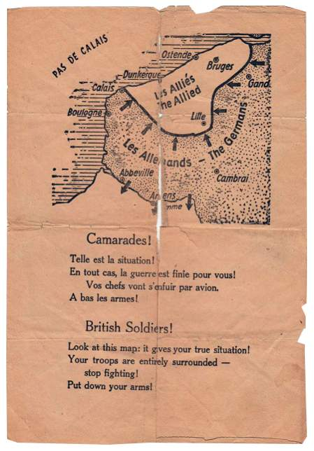 dunkirk surrender leaflet