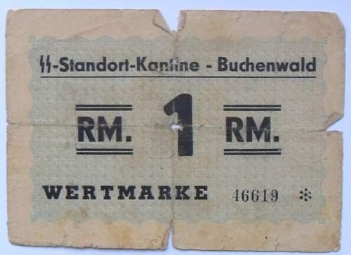 Konzentrationslager Buchenwald credit tokens