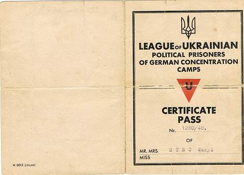 Interesting Concentration camp I.D. lot