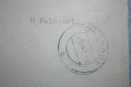 Dachau postal covers