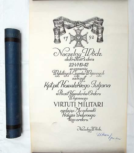Click image for larger version.  Name:VM Diploma to Kpt pil Julian Kowalski.jpg Views:18 Size:182.7 KB ID:1005970