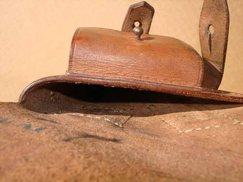 Polish Police ? Nagant holster, ink stamp dated April 1939, 100% original  Prewar ?