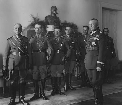 Click image for larger version.  Name:23rd May 1934 Warsaw Gen Fabrycy after awarding OOP to Brazilian Military Mission General Laito .jpg Views:27 Size:201.0 KB ID:1020078