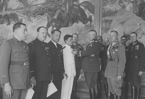 Click image for larger version.  Name:13th July 1932 Warsaw Gen Fabrycy awarding OOP and KZ to French Military Delegation (4).jpg Views:73 Size:200.8 KB ID:1020079