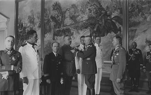 Click image for larger version.  Name:13th July 1932 French Military Mission receiving OOP from General Fabrycy.jpg Views:63 Size:207.5 KB ID:1020081