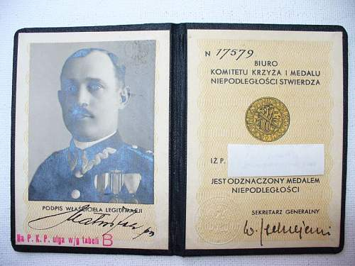 Click image for larger version.  Name:medal niepodległości legitymacja 1.jpg Views:98 Size:108.7 KB ID:103118