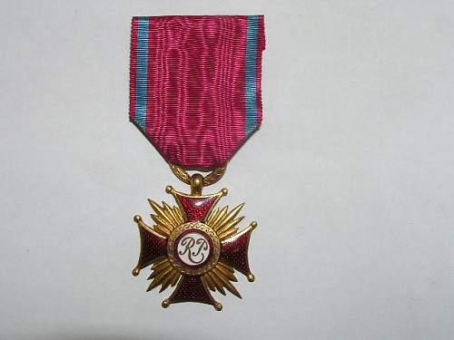Click image for larger version.  Name:Złoty Krzyż Zasługi-1923 1.jpg Views:53 Size:63.4 KB ID:103151