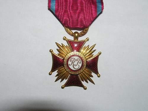 Click image for larger version.  Name:Złoty Krzyż Zasługi-1923 2.jpg Views:77 Size:64.9 KB ID:103152