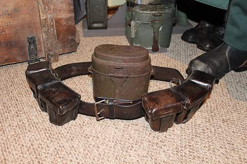 Polish Army belt with ammo pouches and mess kit