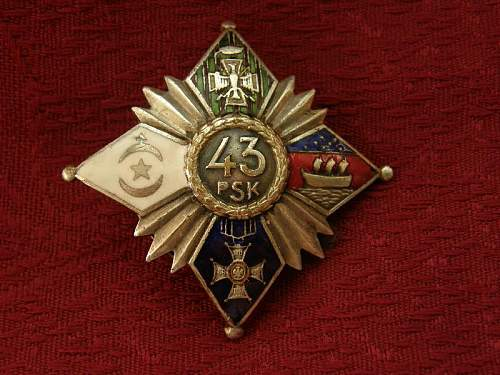 Click image for larger version.  Name:43 Pułk Strzelców -Dubno,oficerska- oryginał 2200zl seaaq.jpg Views:108 Size:77.9 KB ID:112936