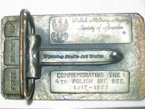 Click image for larger version.  Name:Polish 4th Legion Belt Buckle replica back.jpg Views:107 Size:256.1 KB ID:116243