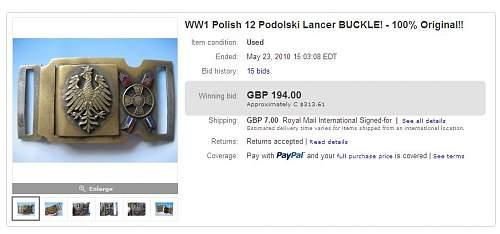 Click image for larger version.  Name:WW1 Polish 12 Podolski Lancer BUCKLE 194GBP (3).jpg Views:72 Size:51.0 KB ID:119238