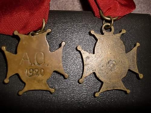 Polish-Bolshevik War Volunteer Army Crosses