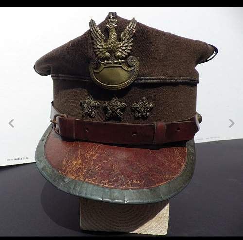 My Wz.19 Captain's rogatywka, which is currently preferably for trade or for sale in the Polish Militaria for Sale section