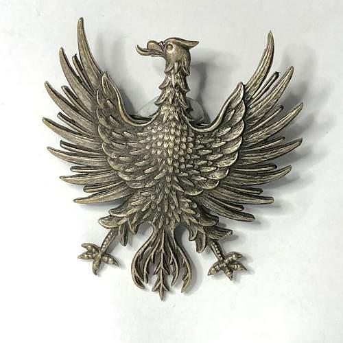 Polish eagle badge , Cap badge or patriotic pin !!