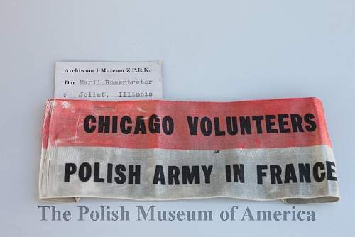 Polish Army in France  recruiting/volunteer armband .