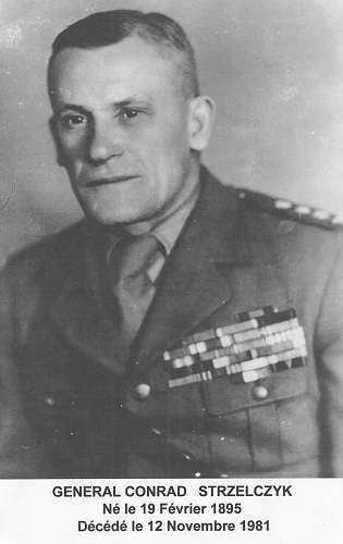 Search for information for the ww1 period to General  Conrad Strzelczyk