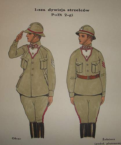 Early polish uniform pattern drawing, made in russia !