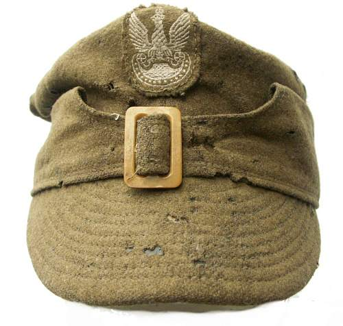 Click image for larger version.  Name:Wz.37 Polish Field Cap (Pre-1939) $794 US.jpg Views:685 Size:108.3 KB ID:160690