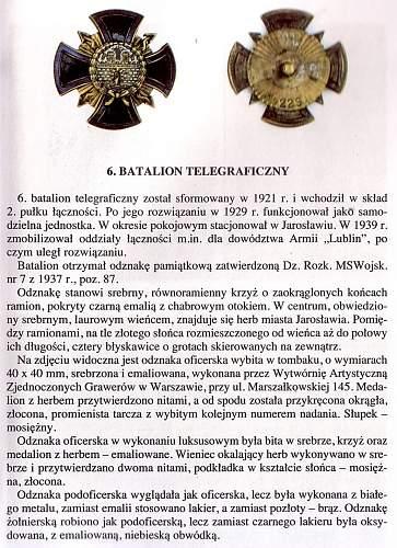"""Need information from """"Odznaki Wojska Polskiego 1918-1945"""""""