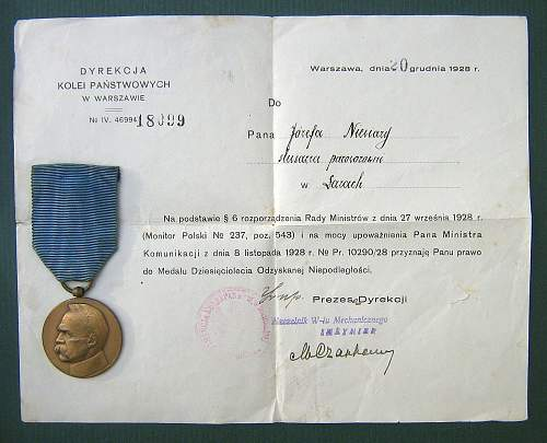 The Cross and Medal of Independence