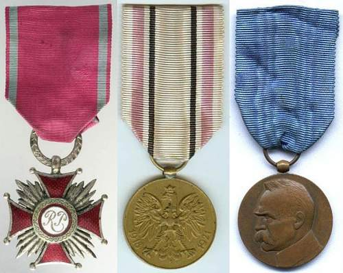 A Polish officer's medals