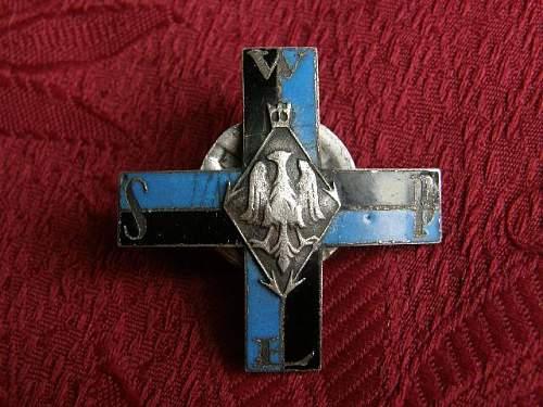 Polish Signal Cadet Regimental Badge