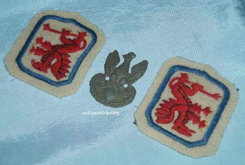 Poland collar insignia and badge - pre WWII or ?