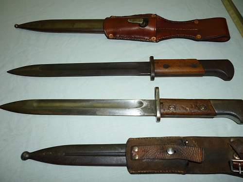 Click image for larger version.  Name:Polish bayonets - German reworked M1939 mobilization,  Polish m1929.jpg Views:7645 Size:244.7 KB ID:280416