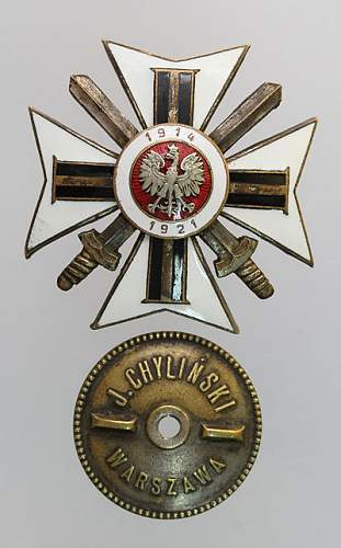 Click image for larger version.  Name:Związek b.Ochotników Armii Polskiej 1100zl.jpg Views:70 Size:60.8 KB ID:285725