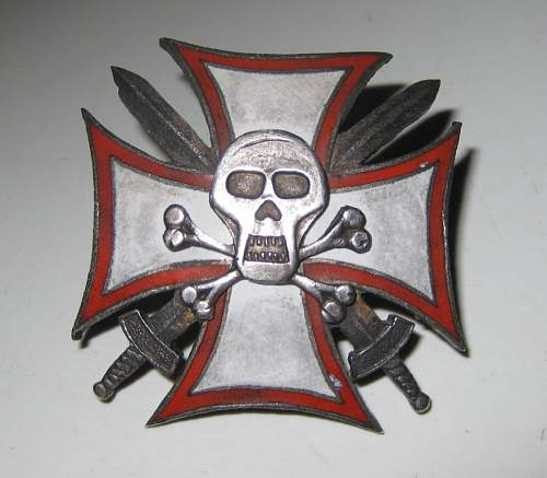 Click image for larger version.  Name:WW1 totenkopf cross front.jpg Views:540 Size:52.3 KB ID:298138