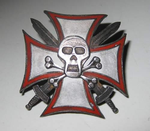 Totenkopf on a cross......what is it.