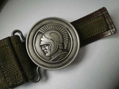 Pre-War Polish Officer's Salon/Dress belt - 100% original Pre-War ?