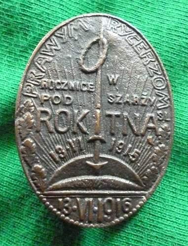 Click image for larger version.  Name:Battle of Rokitna badge close up.jpg Views:113 Size:266.1 KB ID:351839