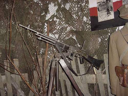 Click image for larger version.  Name:rkm wz.28 on wooden anti aircraft tripod Polish museum.jpg Views:792 Size:92.1 KB ID:355012