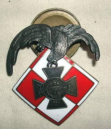 Polish air defense badge Lwow 1918