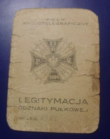 Polish Radiotelegraphic Badge Award document