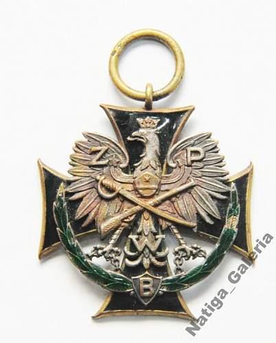 Krzyż Powstańcowi Broni - St. Zygmaniak nr 1431