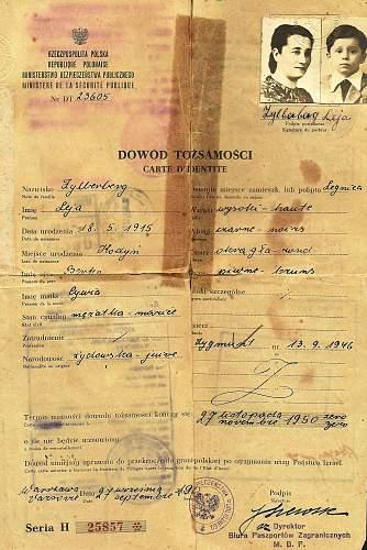 Selection of old Polish passports...