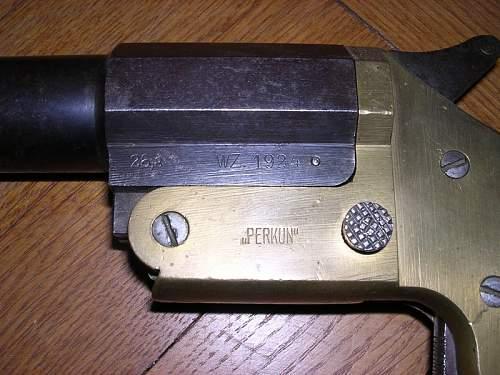 Wz.24 Perkun Flare Pistol (Pistolet sygnałowy Perkun wz.1924), 100% original pre-war ?