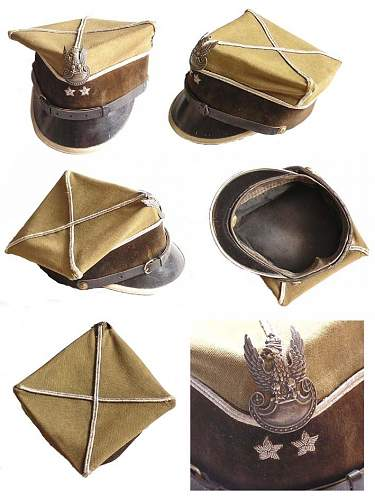 Click image for larger version.  Name:Polish pre WW2 Officer of Technical Unit Cap $495US.jpg Views:171 Size:91.9 KB ID:460676