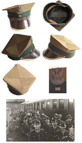 Click image for larger version.  Name:Polish pre WW2 Officer Cadet Artillery School Cap a.jpg Views:182 Size:97.2 KB ID:460678