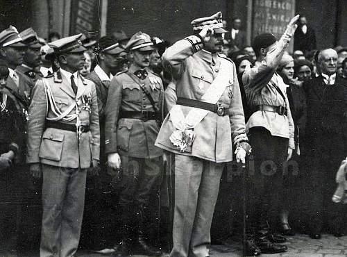 Generał Haller wearing Order Orła Białego