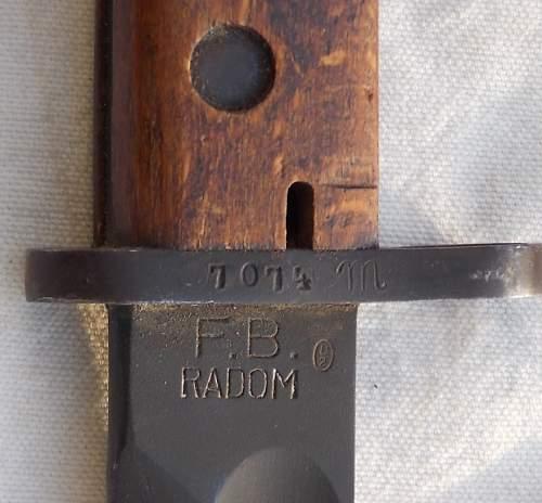 """Polish Radom """"Mobilization"""" bayonet...."""