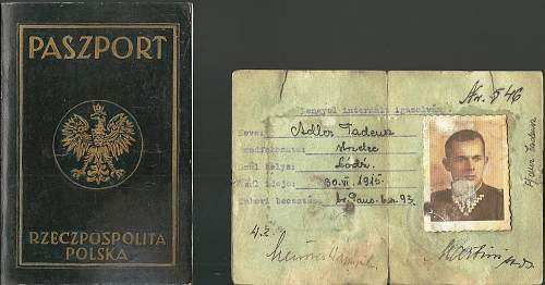 Some help with Polish stamp & old passport